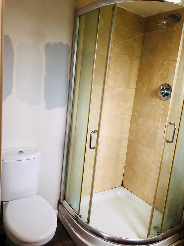 Ensuite bathroom before