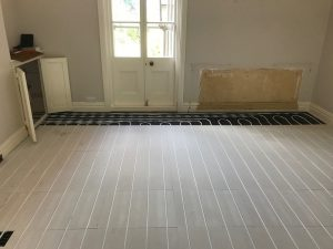 Underfloor heating installed by LHPS Ltd